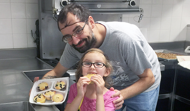 Father and Daughter in Baking Class